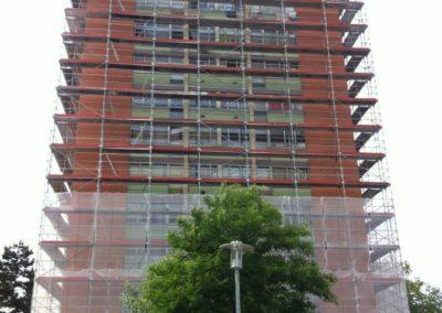 Echafaudages fixes façades immeubles